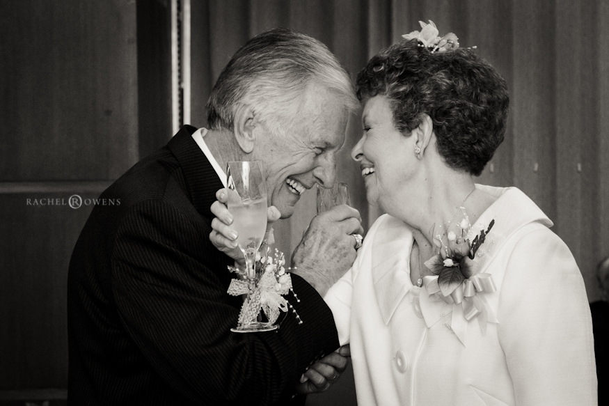 senior adult wedding photo